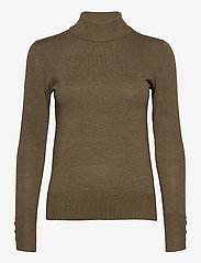 Pulz Jeans - PZSARA Pullover - turtlenecks - stone gray melange - 0