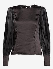 Pulz Jeans - PZSILLE Blouse - blouses à manches longues - black - 0