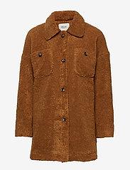 Pulz Jeans - PZTEDDY Jacket - sztuczne futro - pecan brown - 0
