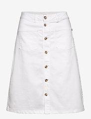 Pulz Jeans - PZDITTE Skirt - denimnederdele - bright white - 0