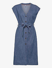 Pulz Jeans - PZTINKA Dress - jeansowe sukienki - medium blue denim - 0