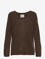 Pulz Jeans - PZASTRID Pullover - trøjer - bison melange - 0