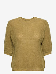 Pulz Jeans - PZIRIS Pullover - strikkede toppe - gothic olive - 0