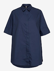 Pulz Jeans - PZWILLO Shirt - kortærmede skjorter - dark sapphire - 0