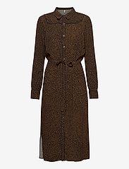 Pulz Jeans - PZMYLA Dress - midi kjoler - dark sapphire printed - 0