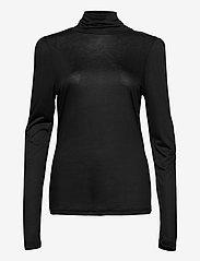 Pulz Jeans - PZCARLA T-shirt - langærmede toppe - black beauty - 0