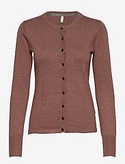 Pulz Jeans - PZSARA Cardigan - cardigans - brownie melange - 0