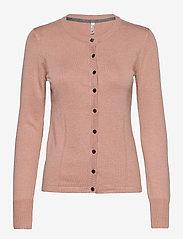 Pulz Jeans - PZSARA Cardigan - cardigans - mahogany rose melange - 0