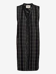 Pulz Jeans - PZLORIN Waistcoat Premium Quality - knitted vests - dark grey melange - 0