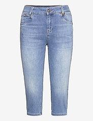 Pulz Jeans - PZEMMA Capri Skinny - pantalons capri - light blue denim - 0