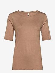 Pulz Jeans - PZCARLA t-shirt - t-shirts - brownie - 0