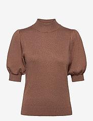 Pulz Jeans - PZSARA Pullover - gebreide t-shirts - brownie melange - 0