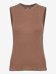 Pulz Jeans - PZSARA Pullover - strikveste - brownie melange - 0