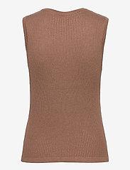 Pulz Jeans - PZSARA Pullover - strikveste - brownie melange - 1