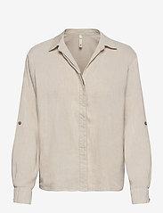 Pulz Jeans - PZLUCA Shirt - langærmede skjorter - sandshell melange - 0