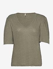 Pulz Jeans - PZAMALIE T-shirt - t-shirts - vetiver - 0
