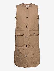 Pulz Jeans - PZELINA Waistcoat - lette frakker - tannin - 0