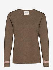 Pulz Jeans - PZSARA Pullover - trøjer - crocodile melange - 0