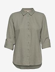 Pulz Jeans - PZANITA Shirt - langærmede skjorter - vetiver - 2