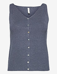 Pulz Jeans - PZSARA Top - strikveste - vintage indigo melange - 0