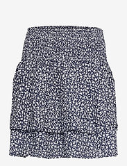Pulz Jeans - PZBENEDIKTE Skirt - korte nederdele - dark sapphire flower printed - 0