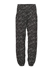 Jill wide pant - BLACK/STAR WHITE