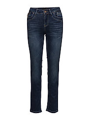 Karolina Highwaist Straight ' - MEDIUM BLUE DENIM