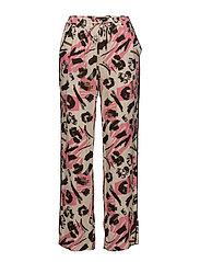 Madonna Loose Pant - HOT PINK COMB