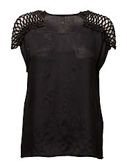 Blommie Wing Sl Blouse - BLACK