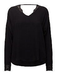Madonna L/S Blouse - BLACK