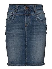 Tenna Denim Skirt - LIGHT BLUE DENIM