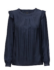 Kissi L/S Blouse - ULTRA MARINE