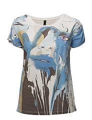 Face Wing Sl. T-shirt - ROYAL BLUE COMB