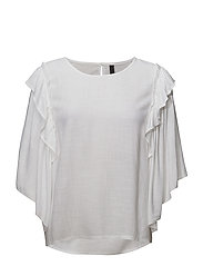 Litta Wing Sl. Blouse - OPTICAL WHITE