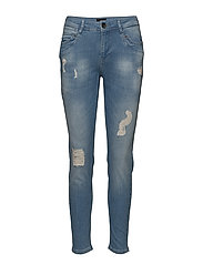 Nadja Highwaist ankle length Jeans - LIGHT BLUE DENIM