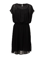 Diamond wing Sl Dress - BLACK