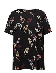 Flower Blouse - BLACK