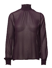 Lisa L/S Blouse - BLACKBERRY