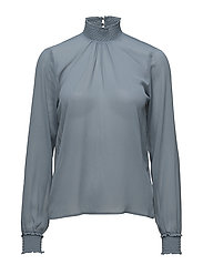 Lisa L/S Blouse - BLUE COMET