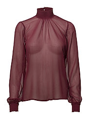 Lisa L/S Blouse - CHERRY ROSE