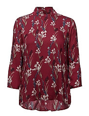 Jory 3/4 Blouse - CHERRY ROSE COMB