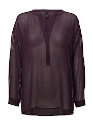 Noga L/S Blouse - BLACKBERRY