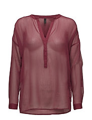 Noga L/S Blouse - CHERRY ROSE
