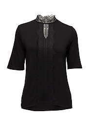 PZTRISSE 1/2 Sl. Blouse - BLACK