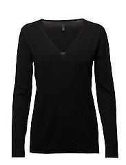 Sara L/S Pullover - BLACK