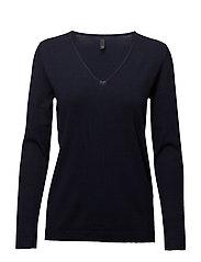 Sara L/S Pullover - BLUE MARINE
