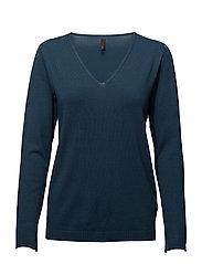 Sara L/S Pullover - RIVER BLUE