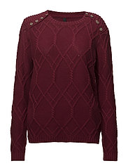 Alma Button Pullover - CHERRY ROSE
