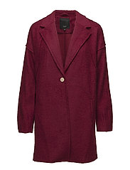 Lula L/S Coat - CHERRY ROSE