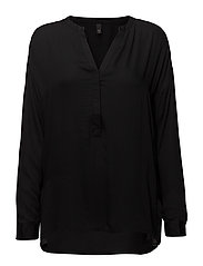Noga L/S Blouse - BLACK SOLID